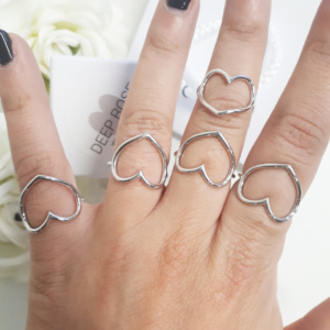 anello pandora cuore indossato
